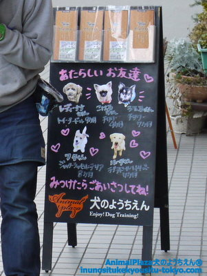 子犬のしつけ教室「犬のようちえん駒沢公園教室」看板